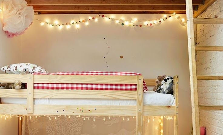 Luces de navidad en habitaciones infantiles y juveniles Los Que No